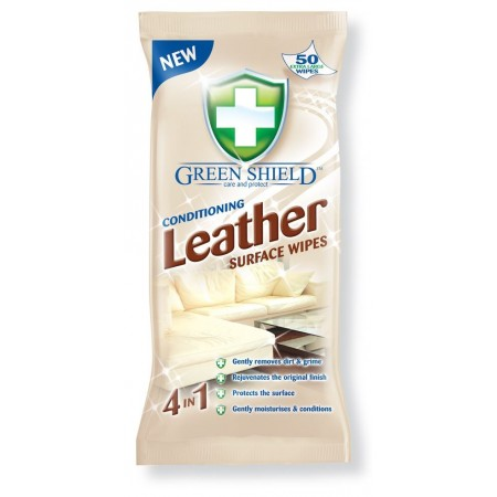 GREEN SHIELD LEATHER WIPES 50S /